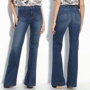 J Brand Mystery Blue Bette Flare Wide Leg Jeans